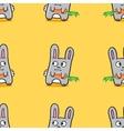 funny cartoon bunnies seamless pattern vector image