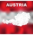 Austrian Abstract Map vector image