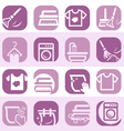 color cleaning and washing icons vector image