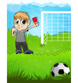Referee shows a red card vector image