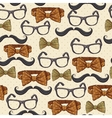 Seamless vintage hipster background vector image
