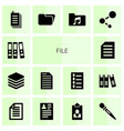 14 file icons vector image vector image