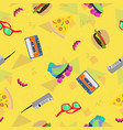 90s pattern vector image vector image