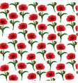 a pattern of poppies with stems vector image