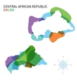 Abstract color map of Central African vector image