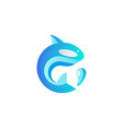 abstract fish drop colorful gradient logo vector image
