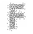 AlphabetOfPointsF vector image vector image