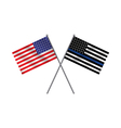 American Police Flag vector image vector image