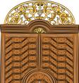 antique doors a vector image