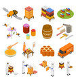 apiary sign 3d icon set isometric view vector image vector image