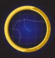 aquarius star horoscope zodiac in fish eye vector image vector image