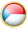 badge design for flag of czech republic vector image vector image