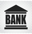 bank building icon in flat style on isolated vector image vector image