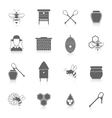 Bee honey icons black set vector image vector image