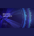 big data business intelligence technology vector image