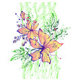 bright fantasy hand drawn flowers vector image
