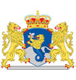 coat of arms of flevoland of netherlands vector image vector image