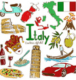 collection italy icons vector image