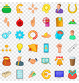 command icons set cartoon style vector image vector image