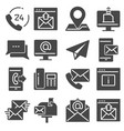 contact us gray icons for web and mobile app vector image