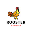 cute rooster cartoon logo icon vector image vector image