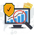 data security concept - paper and online vector image vector image