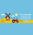 farm landscape banner horizontal concept vector image