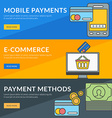 Flat design concept for mobile payments e-commerce vector image