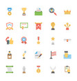 flat icons set of vote and rewards vector image