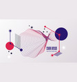 future geometric simple shapes composition trendy vector image vector image