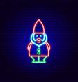 garden gnome neon sign vector image