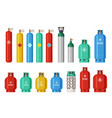 gas cylinders lpg propane container oxygen gas vector image vector image