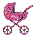 Girl baby carriage vector image vector image