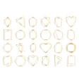 golden geometric frames elegant gold hexagonal vector image