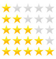 golden stars rating vector image vector image