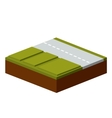 grass and road isometric icon vector image