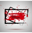 Grunge Black and red Paint Spray vector image