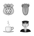 guard medicine and other monochrome icon in vector image vector image