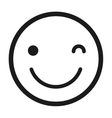 happy face emoticon isolated icon design vector image
