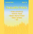 happy vaisakhi punjabi spring vector image vector image