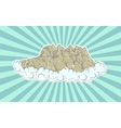High mountains in clouds vector image vector image