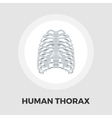 Human thorax flat icon vector image vector image