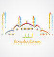 islamic festival background vector image vector image