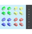 Isometric transport icon set vector image vector image