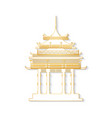 japan gateway with decorated golden roof vector image vector image