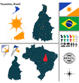 Map of Tocantins vector image vector image