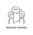 meeting friends line icon linear concept vector image