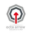 octa arrow design element symbol icon vector image vector image