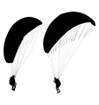 paraglider before take off vector image