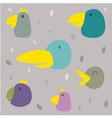 Pattern Bird vector image vector image